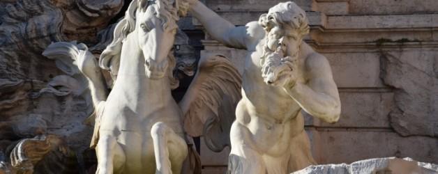 vers la fontaine de Trevi, Rome