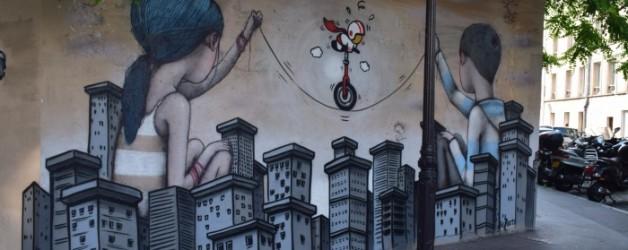 du street art sur la butte