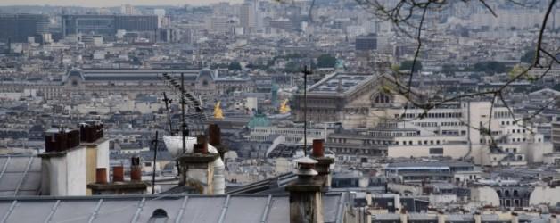 Montmartre vue sur Paris: