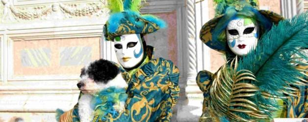 un trio de charme en vert et bleu canard à Venise: