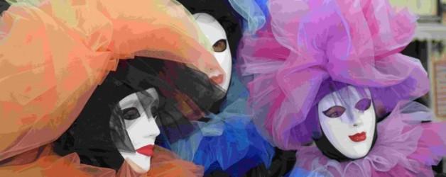 premiers masqués à Venise