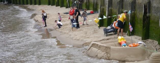la plage à Londres,