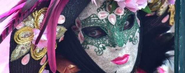 pose florale et colorée à Venise