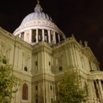 Saint Paul's catédral à la nuit tombée