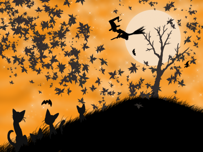halloween_wallpaper_with_orange_background