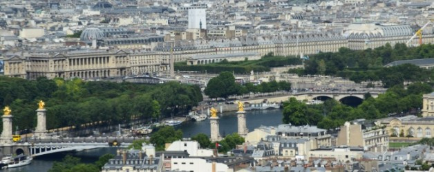 le ciel de PARIS vu du Jules Verne Tour Eiffel,